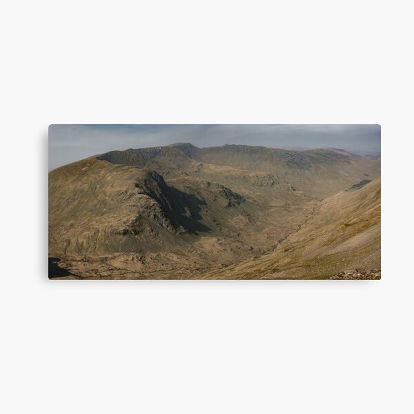 Helvellyn Range & Grizedale from the summit of Fairfield, English Lake District Canvas Print