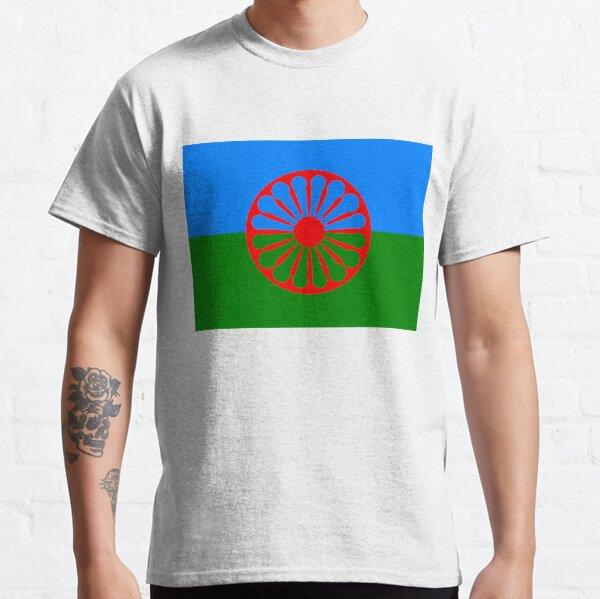 Bandera del pueblo romaní Camiseta clásica