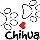 DOG PAWS LOVE CHIHUAHUA DOG PAW I LOVE MY DOG PET PETS PUPPY STICKER STICKERS DECAL DECALS by MyHandmadeSigns