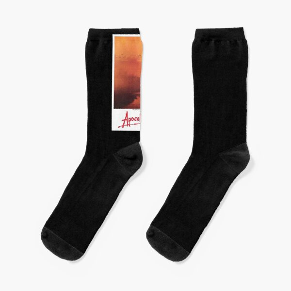 APOCALYPSE NOW. Movie, Film, OLD Poster, ON BLACK. Socks