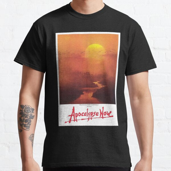 APOCALYPSE NOW. Movie, Film, OLD Poster, ON BLACK. Classic T-Shirt