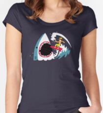 Surf's Up Women's Fitted Scoop T-Shirt