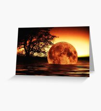 Fallen Moon Greeting Card