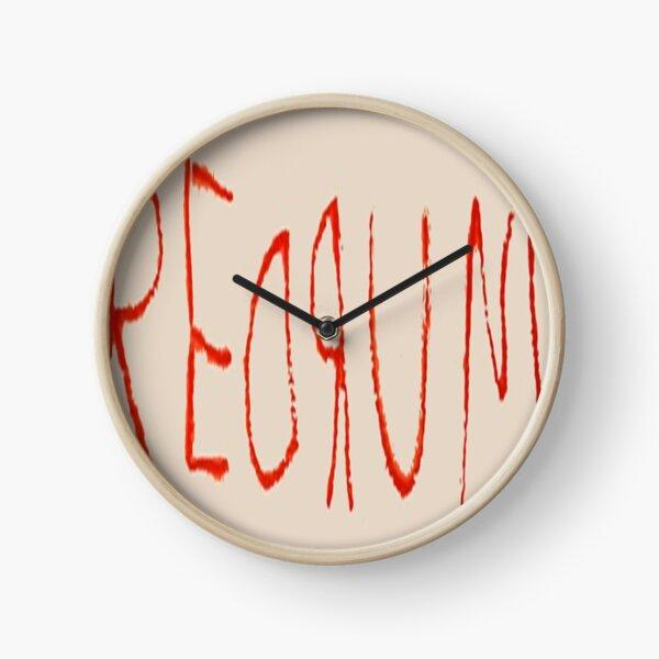 REDRUM  T-Shirt Clock