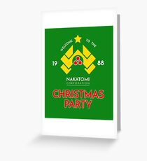 Nakatomi Corp Christmas Party 1988 T-Shirt Greeting Card