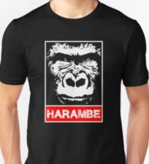 Erinnere dich an Harambe Slim Fit T-Shirt