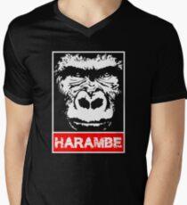 Remember Harambe Men's V-Neck T-Shirt