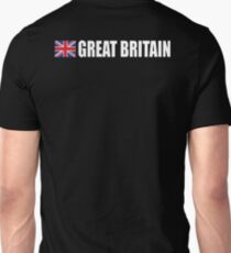 GREAT BRITAIN, TEAM GB, Union Jack, Sport, British Flag, UK, United Kingdom, White on BLACK T-Shirt