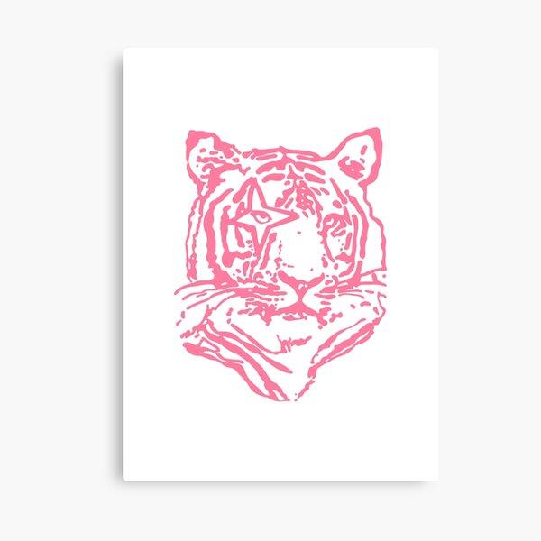 hot pink tiger Canvas Print