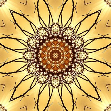 earthi golden sunflower mandala by ARTDICTIVE