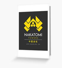 Nakatomi Towers T-Shirt Greeting Card