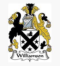Williamson Coat of Arms / Williamson Family Crest Photographic Print