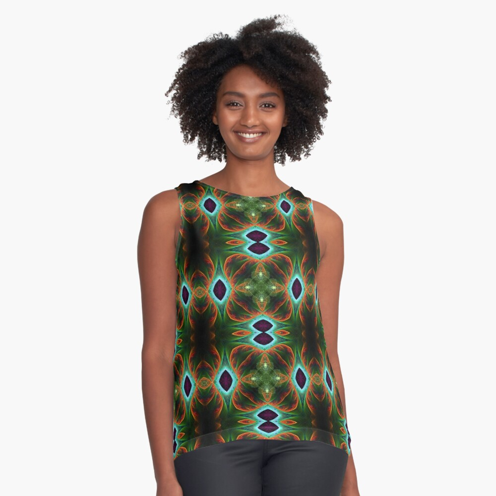 FractalArt Cards Collection Contrast Tank Front