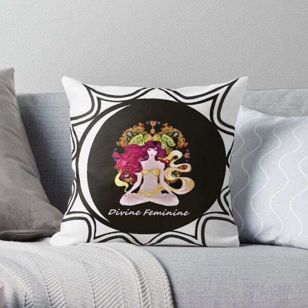 The Divine Feminine Energy Mandala Throw Pillow