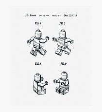 Lego Man Patent 1979 Page 2 Photographic Print