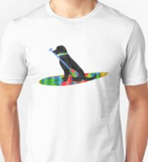 Colorful Stand Up Paddle Board Preppy Black Lab T-Shirt
