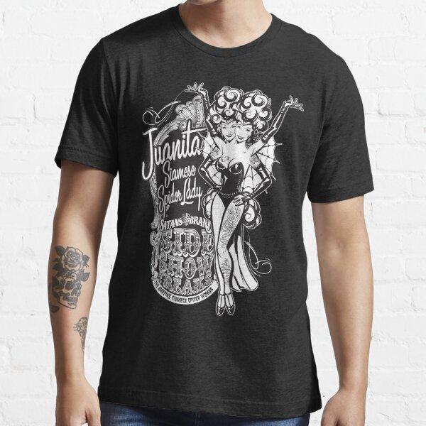 Side Show Freaks - Juanita Siamese Spider Lady Essential T-Shirt