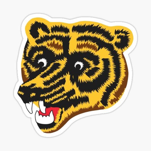 Boston Bruins Crack Bear Logo Sticker