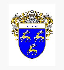 Greene Coat of Arms / Greene Family Crest Photographic Print