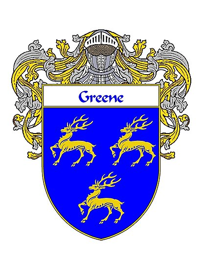 Greene Coat of Arms / Greene Family Crest by William Martin