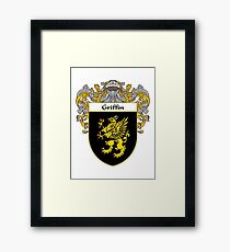 Griffin Coat of Arms/Family Crest Framed Print