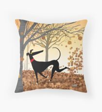 Autumn Hound Throw Pillow