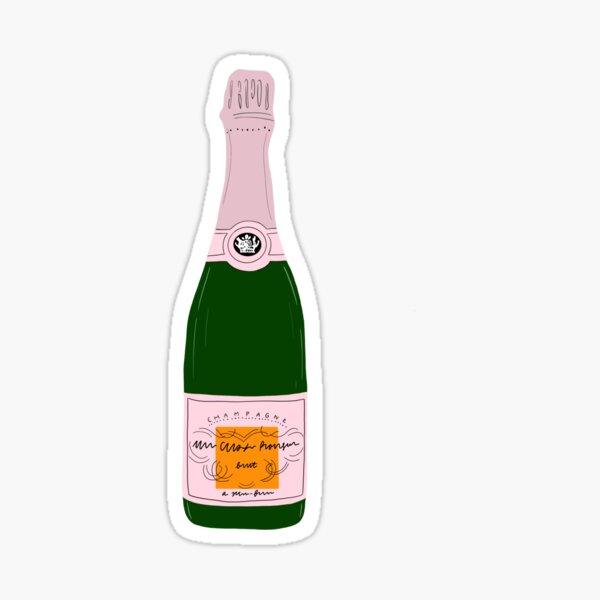 pink champagne bottle Sticker