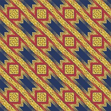 Little Gold Squares Pattern  by ARTDICTIVE