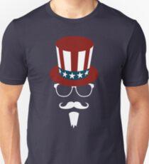 Hipster Uncle Sam Unisex T-Shirt