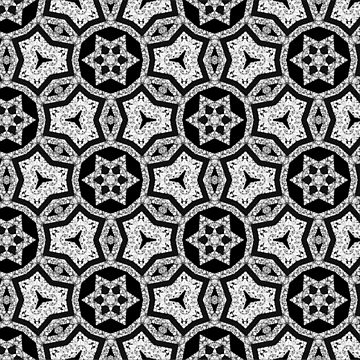 Mosaico | Black+Gray Geometric Pattern by ARTDICTIVE