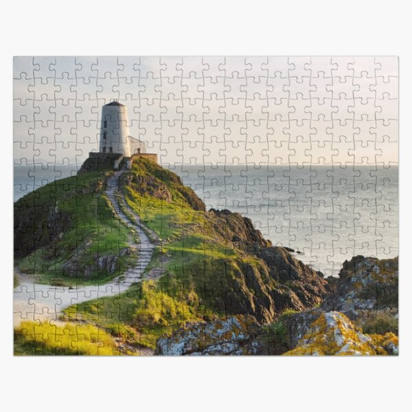Twr Mawr Goldenhour Lighthouse on Anglesey Jigsaw Puzzle