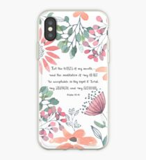 Let the Words of my Mouth-Ps 19:14 iPhone Case
