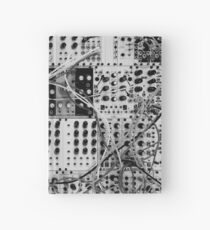 Analog Synthesizer - Modular Design - black & white Hardcover Journal