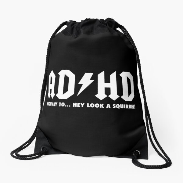 ADHD is Awesome - Cute ADHD is Awesome Version 2 Drawstring Bag
