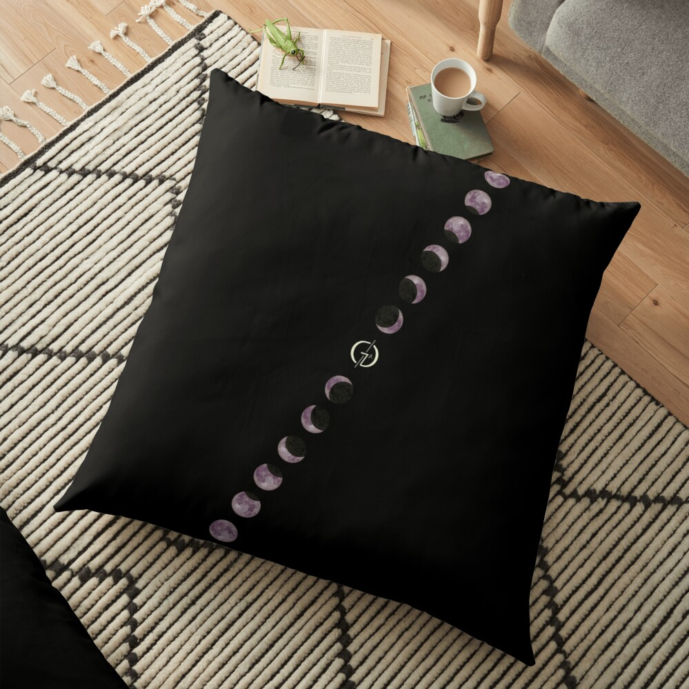 Lo-fi Space   Moon phases Floor Pillow