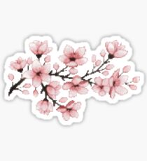 Pixel Flowers Sticker