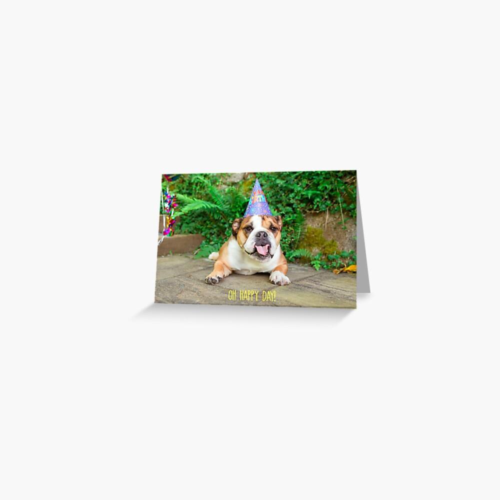Oh Happy Day Birthday Greeting Card