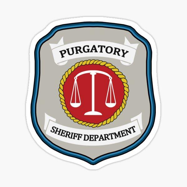 Wynonna Earp - Parche del departamento del sheriff del purgatorio Pegatina