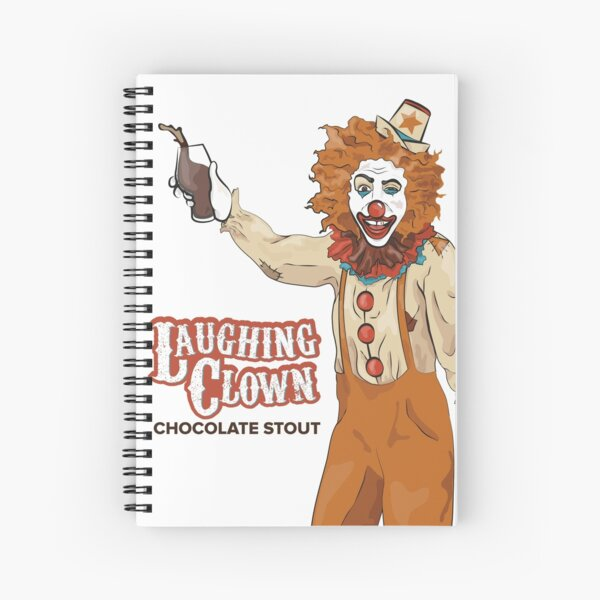 Laughing Clown Chocolate Stout Spiral Notebook