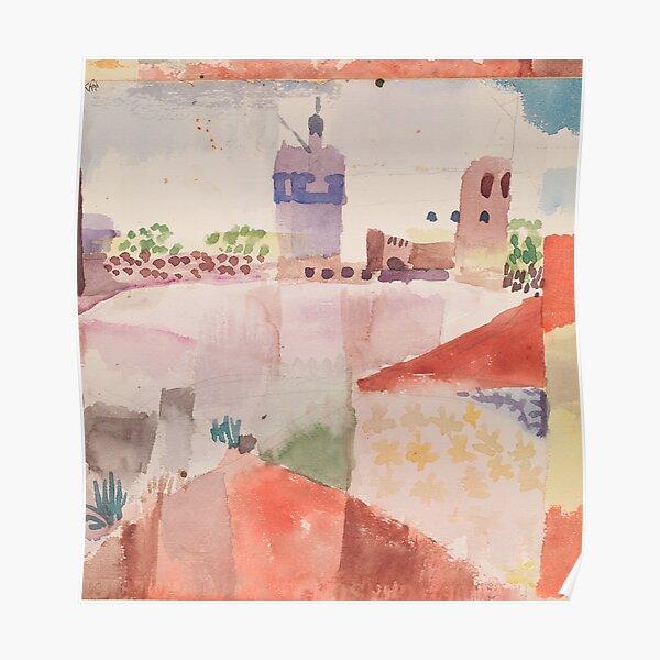 Hammamet mit seiner Moschee, Paul Klee Poster