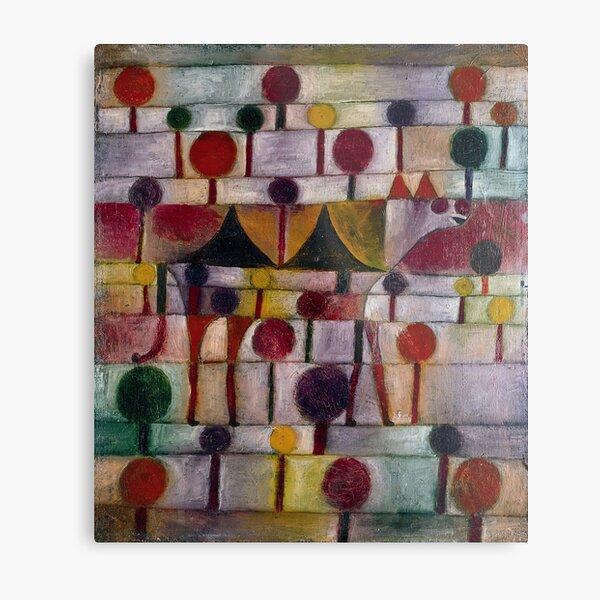 Kamel (in rhythm. Baumlandschaft), Paul Klee Metal Print
