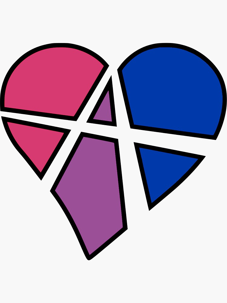 Bisexual Relationship Anarchy Heart (Black) by polyphiliashop