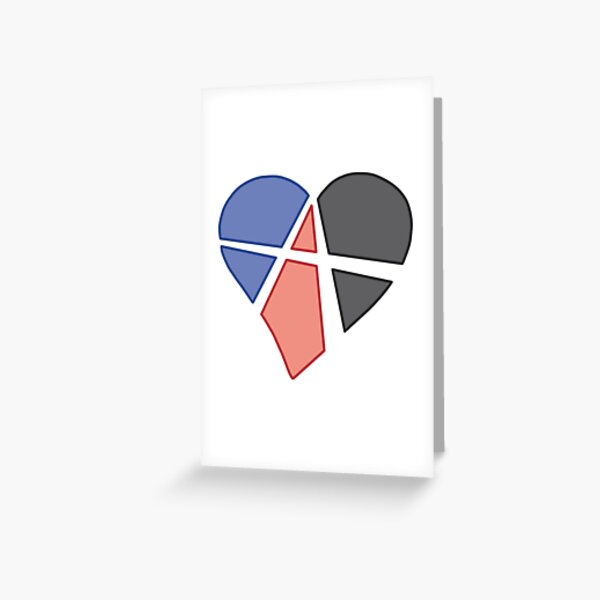 Polyamorous Relationship Anarchy Heart Greeting Card