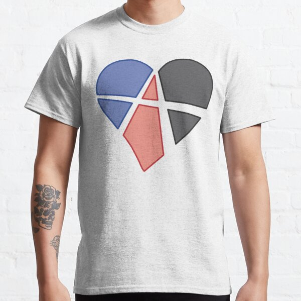 Polyamorous Relationship Anarchy Heart Classic T-Shirt