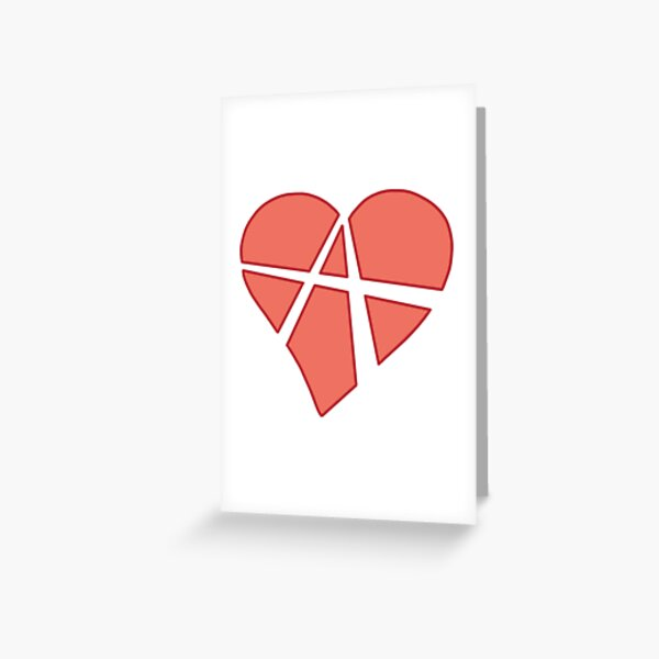 Relationship Anarchy Heart Greeting Card