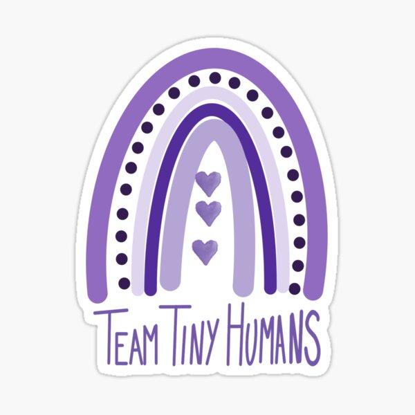 Team Tiny Humans Rainbow (Preemie Purple) Sticker