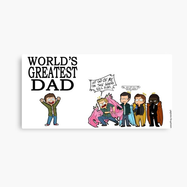 WORLD'S GREATEST DAD Canvas Print
