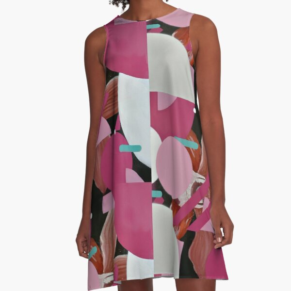 The Elegance of Floral Energy 2 A-Line Dress