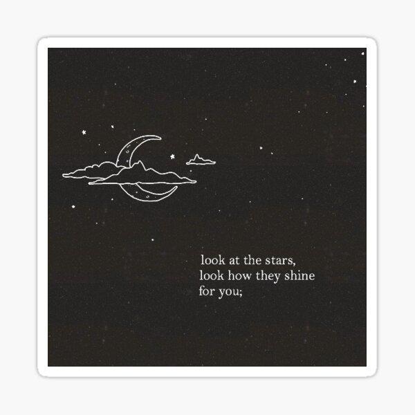 Mira las estrellas... Pegatina