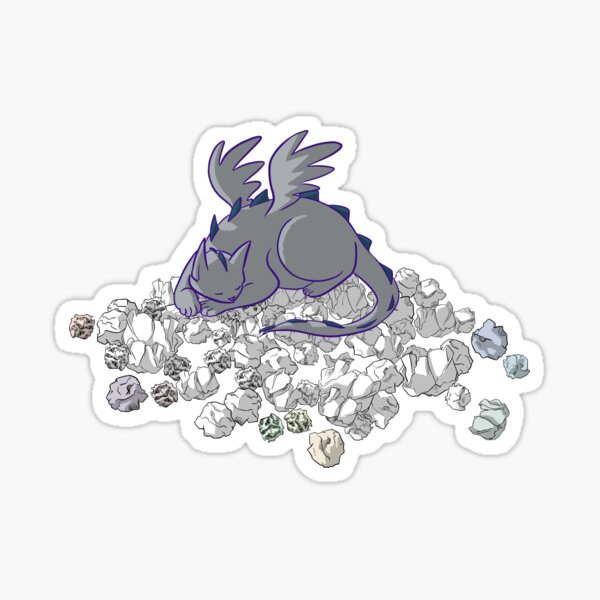 Cat Dragon Hoard Sticker